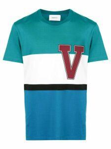 Ports V striped logo T-shirt - Multicolour