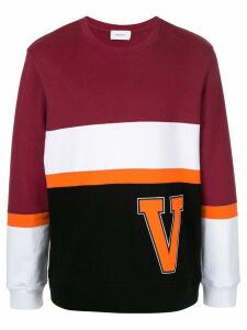 Ports V striped logo sweatshirt - Red