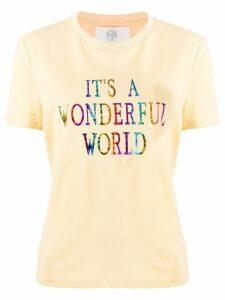 Alberta Ferretti slogan print T-shirt - Yellow