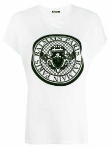 Balmain medallion print T-shirt - White