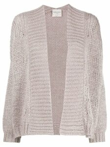 Forte Forte egg-shaped knitted cardigan - Purple