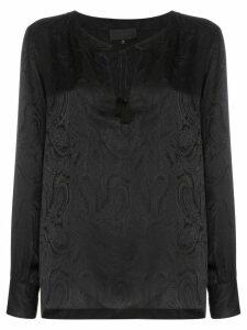 Nili Lotan Lucena paisley-print silk blouse - Black