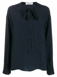 Valentino mini Vlogo pussycat bow blouse - Blue