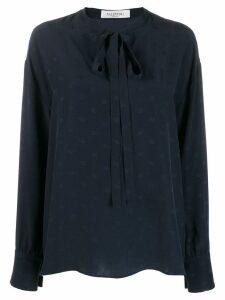 Valentino mini Vlogo pussycat bow blouse - Blue