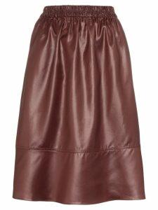 Tibi Liquid Drape midi skirt - Red
