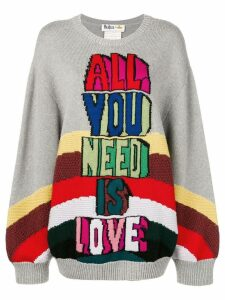 Stella McCartney intarsia-knit jumper - Grey