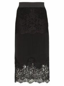 Dolce & Gabbana lace-insert pencil skirt - Black