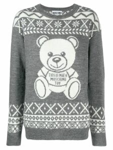 Moschino teddy bear jumper - Grey