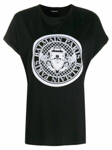 Balmain medallion print T-shirt - Black