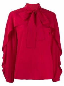 RedValentino frilled bow embellishment blouse