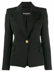 Balmain single-button blazer - Black