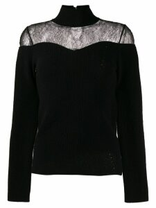 Fendi lace insert jumper - Black