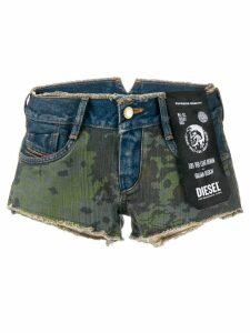 Diesel Camo short shorts - Blue