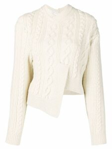 Victoria Beckham Patched cropped jumper - White