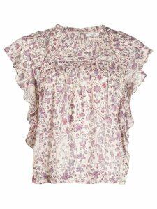 Isabel Marant Étoile Layona floral top - NEUTRALS