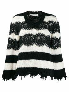 Philosophy Di Lorenzo Serafini striped sweater - Black