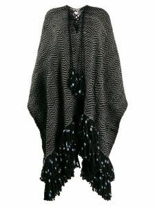 Ulla Johnson zigzag poncho - Black