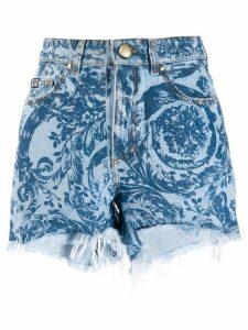 Versace Jeans Couture paisley print shorts - Blue