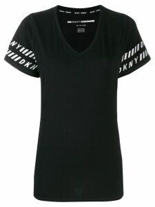 DKNY logo trim T-shirt - Black