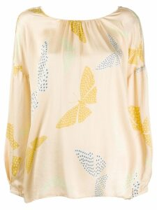 Forte Forte butterfly print blouse - Neutrals