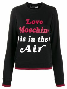 Love Moschino logo print sweater - Black