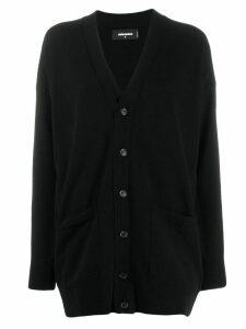 Dsquared2 black oversized fit cardigan