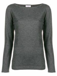 Brunello Cucinelli glitter slim fit top - Grey