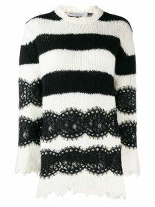 Philosophy Di Lorenzo Serafini striped lace sweater - Black