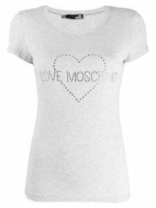 Love Moschino studded logo T-shirt - Grey
