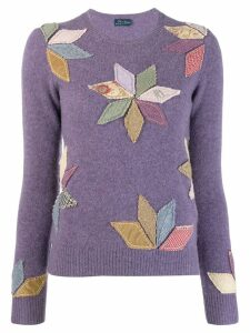 Polo Ralph Lauren appliqué petals top - Purple