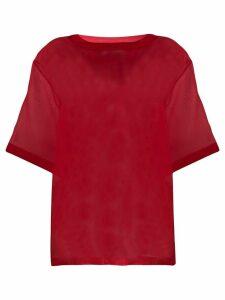 MSGM Riviera Resort Club sheer T-shirt - Red