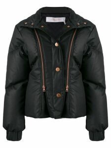 See by Chloé quilted double zip jacket - Black