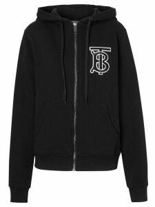 Burberry monogram print hoodie - Black