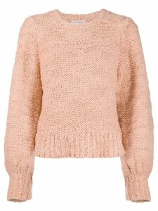 Ulla Johnson bouclé balloon sleeve jumper - Pink
