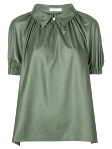 Adeam spread collar draped blouse - Green