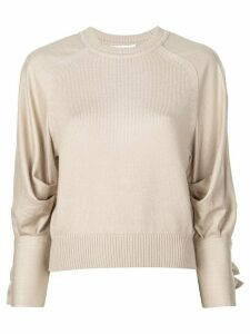 Adeam bow detail sweater - Neutrals