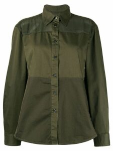 Diesel sheer panel shirt - Green