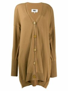 Mm6 Maison Margiela long cardigan - Brown