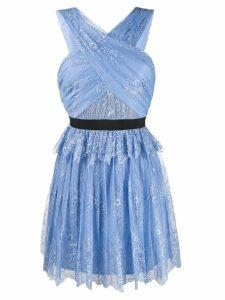 Self-Portrait fine lace mini dress - Blue