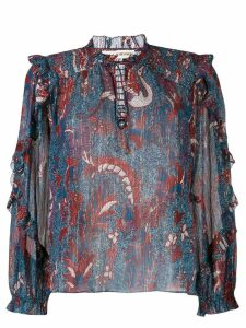 Ulla Johnson floral-print blouse - Blue
