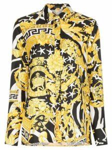 Versace baroque zebra-print shirt - Black