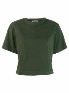 Acne Studios boxy-fit logo T-shirt - Green