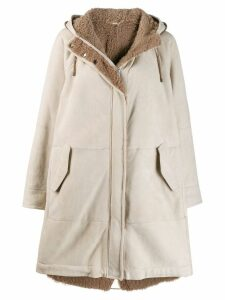 Brunello Cucinelli hooded parka - NEUTRALS