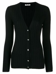 Miu Miu ribbed knitted cardigan - Black