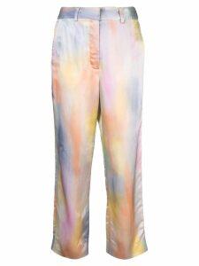Sies Marjan Willa printed straight-leg trousers - Grey