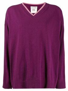 Semicouture knitted sweatshirt - PURPLE