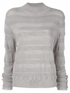 Aje striped blouse - Grey