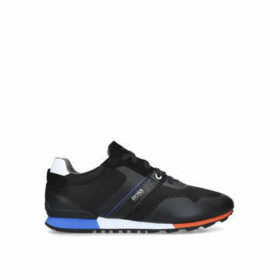 Boss Parkour Runner - Black Lace Up Trainers