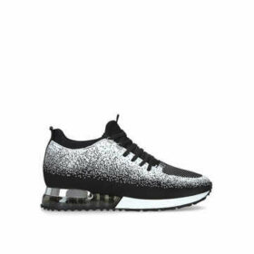 Mallet Tech Runner Contrast - Black And White Lace Up Trainers