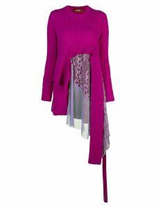 Sies Marjan Trine cable knit sweater - PURPLE